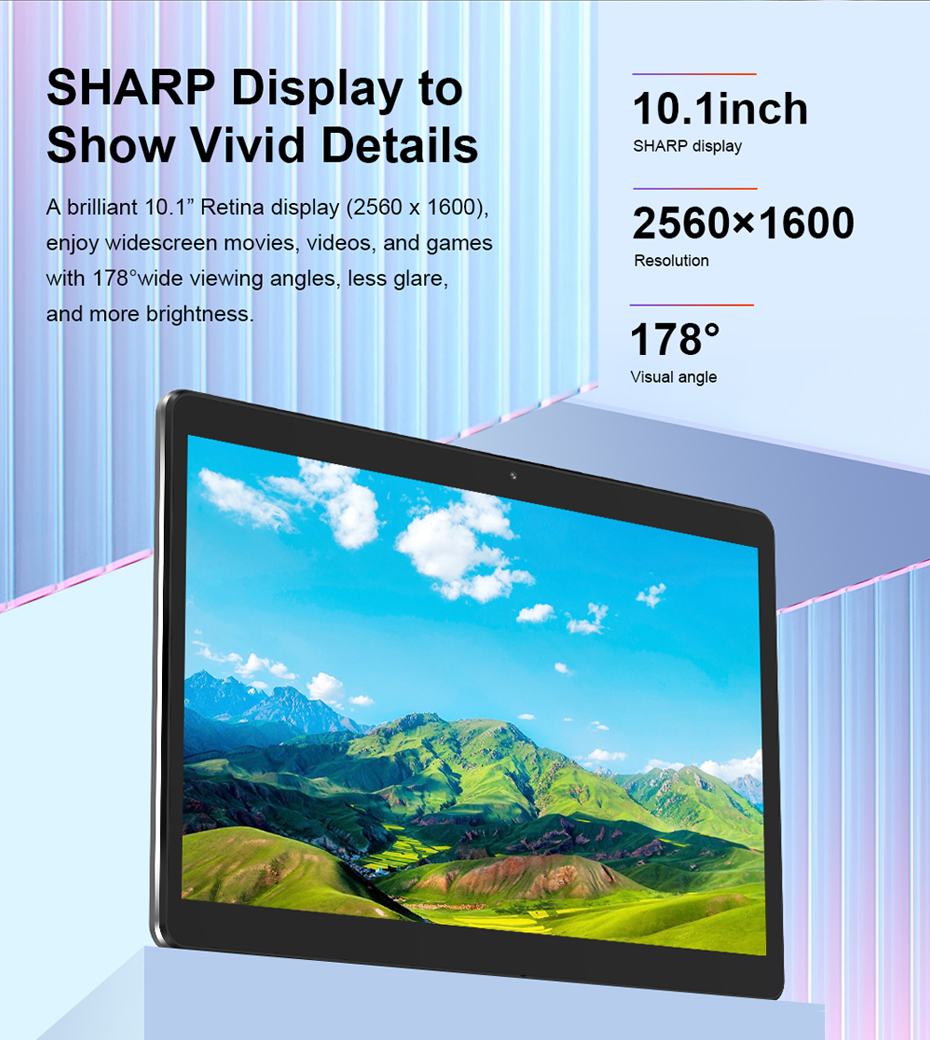 Teclast M20 Dual 4G LTE Tablet PC 10.1 inch 2560*1600 Android 8.0 MT6797 X23 Deca Core 4GB RAM 64GB ROM Phone Tablets