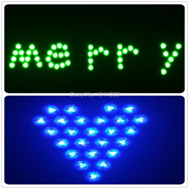 10pcs Vjenčanje dekoracija + 2kom daljinski upravljač uronjeni LED - Rasvjeta za odmor - Foto 5