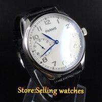PARNIS 44mm handaufzug herren uhr sea gull st3600 bewegung-in Mechanische Uhren aus Uhren bei