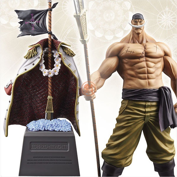 Anime One Piece Four emperors White beard Daddy Edward Newgate  Figure Model Toys