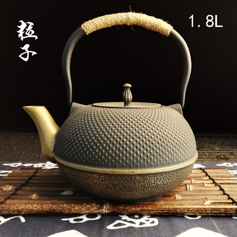 1.8L Large Capacity Classical Exquisite Iron Kettle Cast Iron Teapot Southern Japan Cooking Tea Hand Made Tea Pot Set1.8L Large Capacity Classical Exquisite Iron Kettle Cast Iron Teapot Southern Japan Cooking Tea Hand Made Tea Pot Set