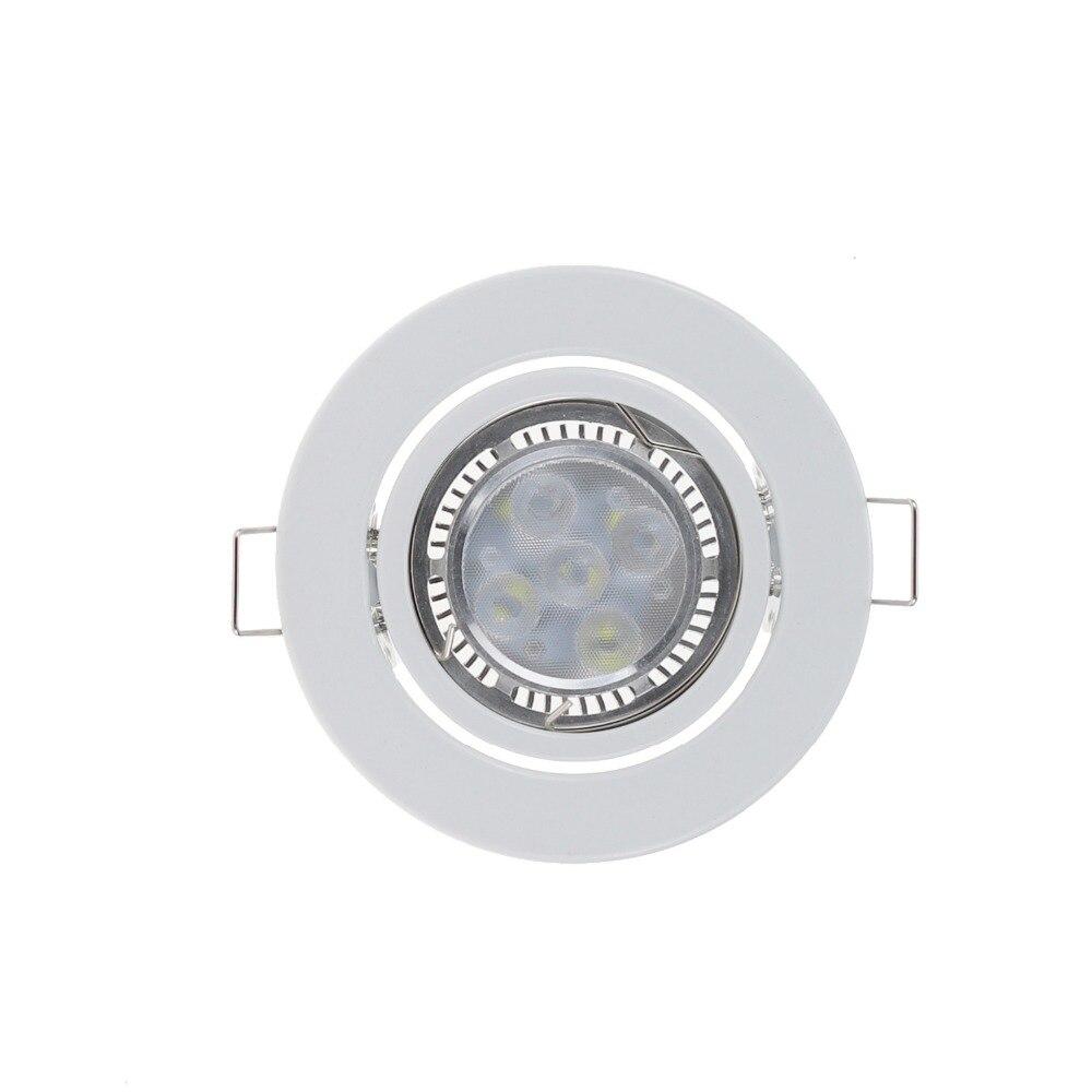 Белый Круглый GU10 поверхностный монтаж алюминиевая рама для Led крепящиеся светильники MR16 монтажные точечные потолочные светильники рамка