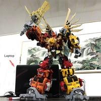 60CM Big 6 In 1 Robots Dinobots Combiner Dinosaur Rangers Action Figure Transformation Robots Children Best Gifts Megazord Toys