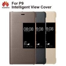 Huawei Original étui de téléphone intelligent vue housse étui à rabat pour Huawei P9 boîtier fonction de sommeil étui de téléphone intelligent