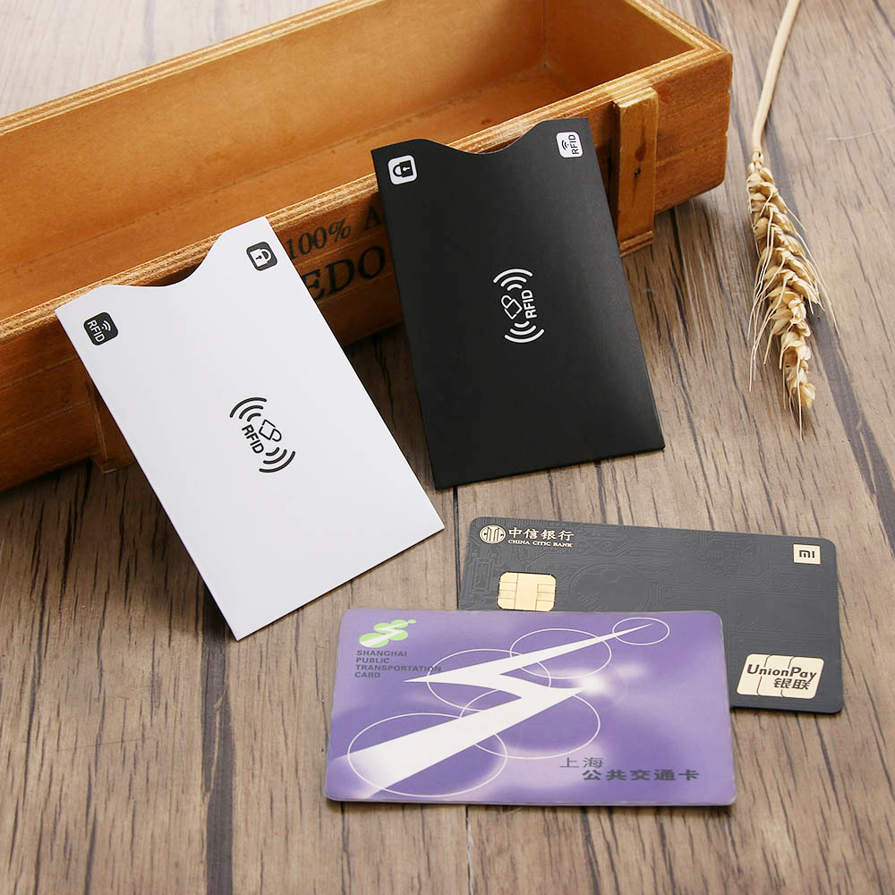 5 Pcs Cards Protect Case Cover Paper Aluminium Rfid Card Holder Anti Thief