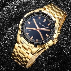 Image 5 - BOAMIGO markowe zegarki męskie moda sport kwarcowy zegarek dla człowieka luksusowy pasek stalowy na rękę męski zegar Relogio Masculino
