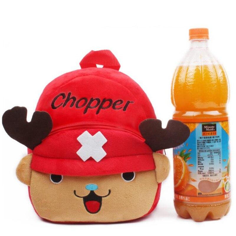 Hot-Super-Kawaii-One-Piece-Luffy-Chopper-Plush-Backpacker-Kids-School-Bags-Children-Gifts-4