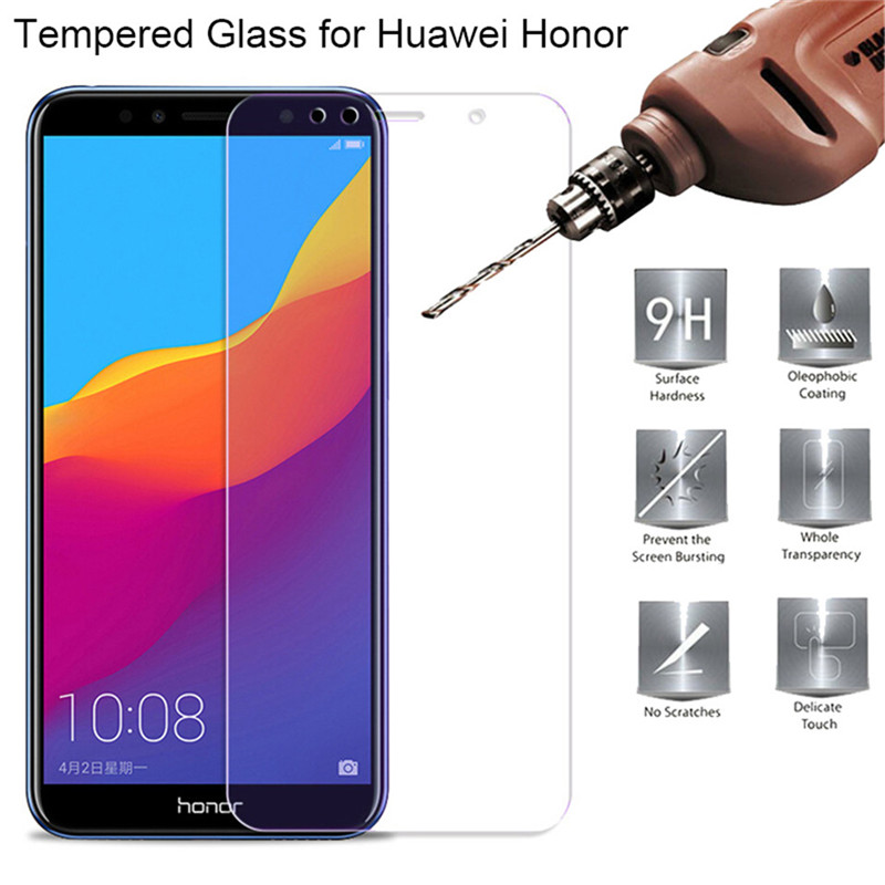 2PCS Tempered Glass For Russian Honor 7C 5.7 Pro  7A 5.45 9H Screen Protector Protective Film For Huawei 7C Pro 5.99 7A Pro 5.7