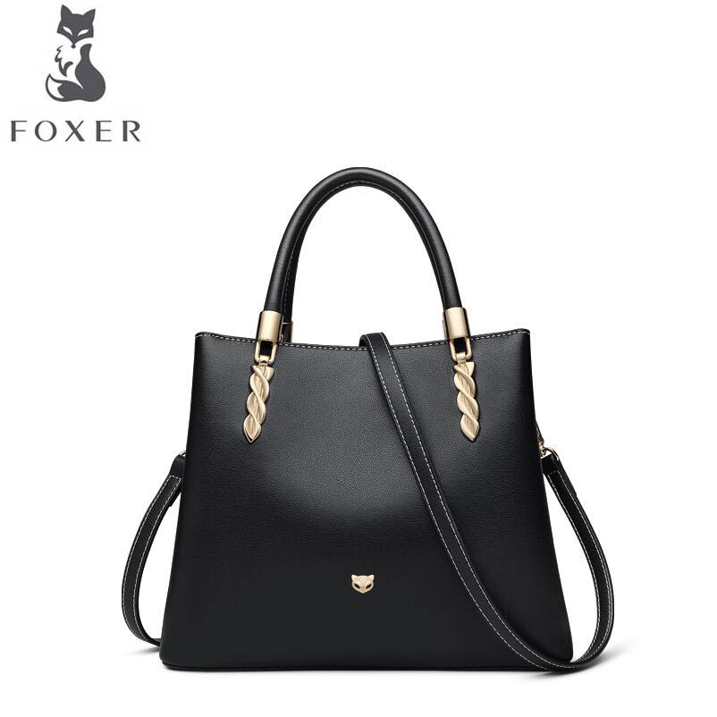 FOXER luxury fashion shoulder bag female big bag 2019 new large capacity women\'s leather slung handbag handbag