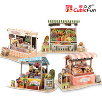 Cubicfun 3D Handmade Puzzle For Kids House Paper Model World Architecture Educational Toys For Children Over