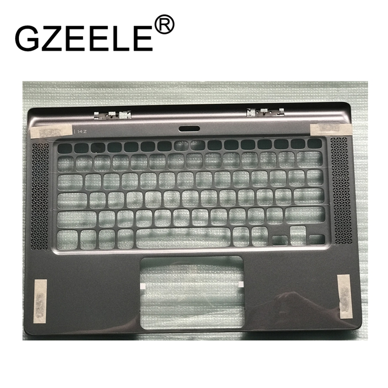 GZEELE new Palmrest topcase for DELL XPS 14Z L412z L421X US layout Keyboard bezel Upper cover without Touchpad top case silver 58wh original laptop battery for xps 14z l412x 14z l412z v79y0 ymyf6 0ymyf6