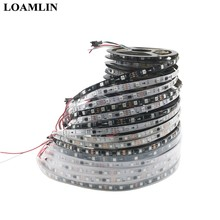 Bande lumineuse RGB Led adressable, DC12V WS2811 50smd, IC, 30/48/60 diodes/m, Pixels de commande externe 1 Ic, 3 diodes, 5 m/rouleau, 16.5