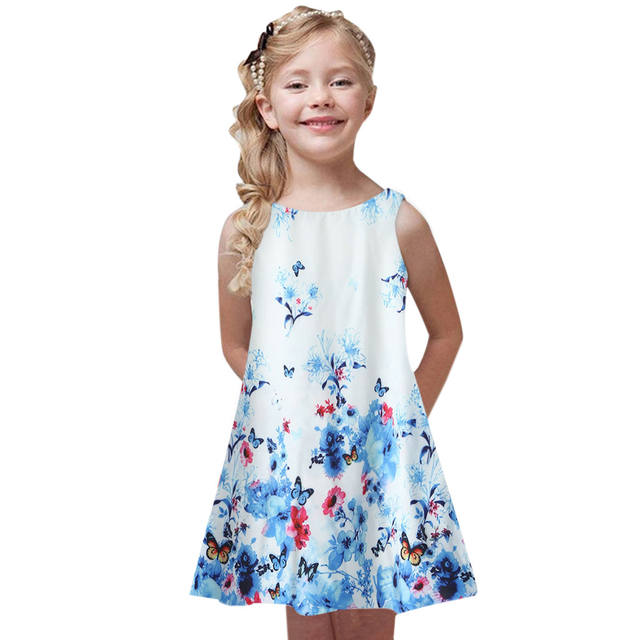 Girls dresses with print casual clothes