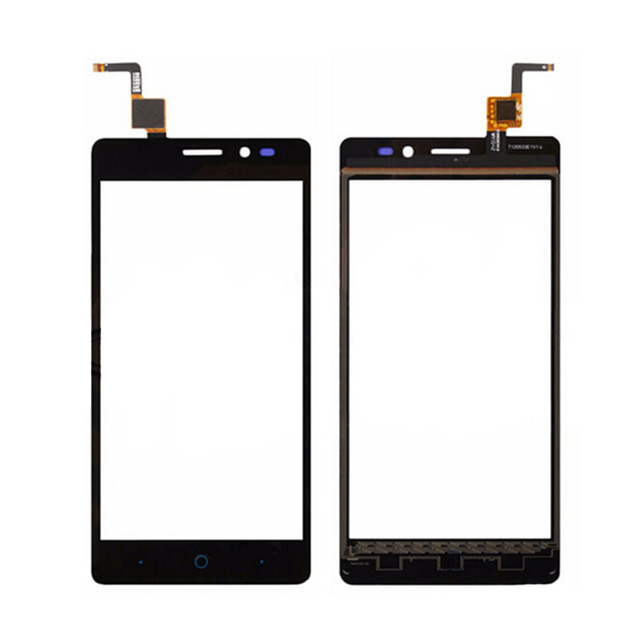 Negro de la pantalla táctil de zte blade hn v993w frontal lente de cristal de reemplazo del sensor del panel digitalizador de vidrio