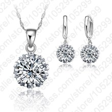 Best Newest Design Jewelry Sets 925 Sterling Silver  Fashion Wedding Jewelrys  Earrings Pendant Necklaces Free Shipping
