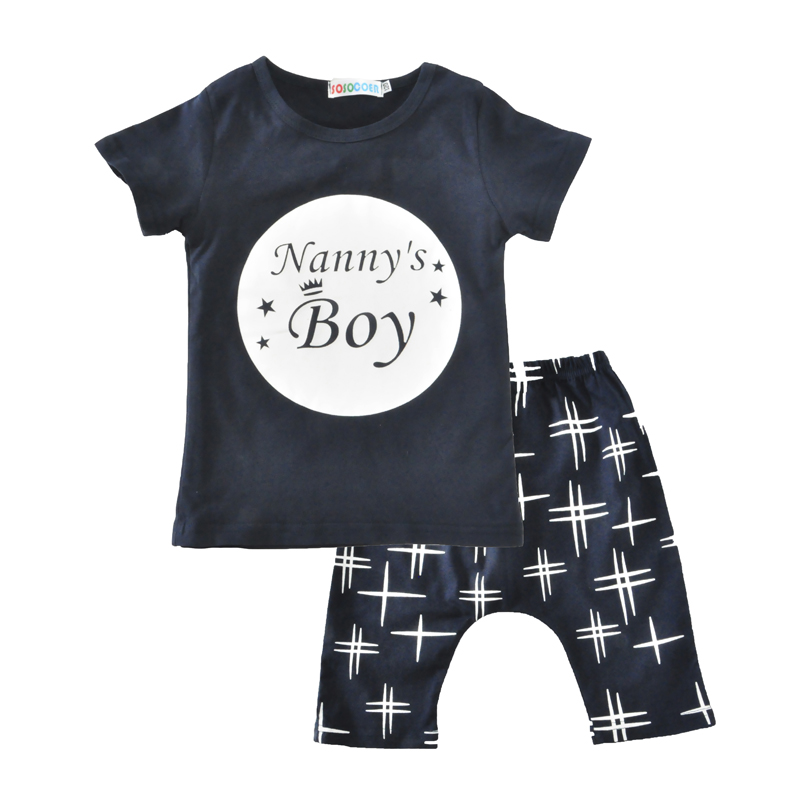 Moonlight Baby Boy Clothing Sets Baby Girl Clothes Set Summer Nannys Boys T-shirt Print Casual Pants 2Pcs Outfits Suits Kids