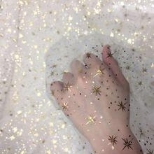 (5Yard/Lot) 150cm Star Tulle Confetti Glitter Mesh Fabric Spool Tutu Pom Soft Squine DIY Wedding Birthday Decoration