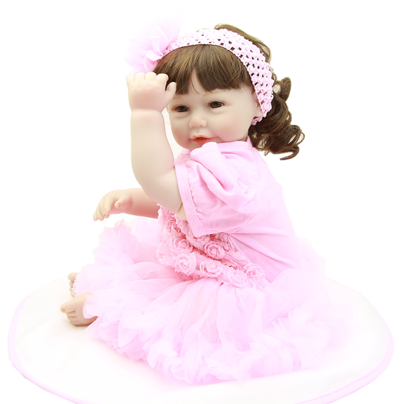 Truly Real 20 Inch Reborn Doll Baby Lifelike Silicone Vinyl Newborn Princess Girl With Cloth Body Kids Birthday Xmas Gift handmade girl american doll full body vinyl 18 inch princess girls doll real lifelike reborn alive toy kids birthday gift