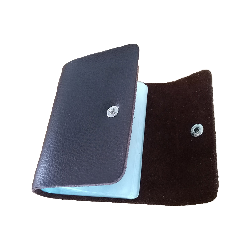 ⓪Genuine Leather Card Holder Men\'s Business Cards Holder Women ID ...