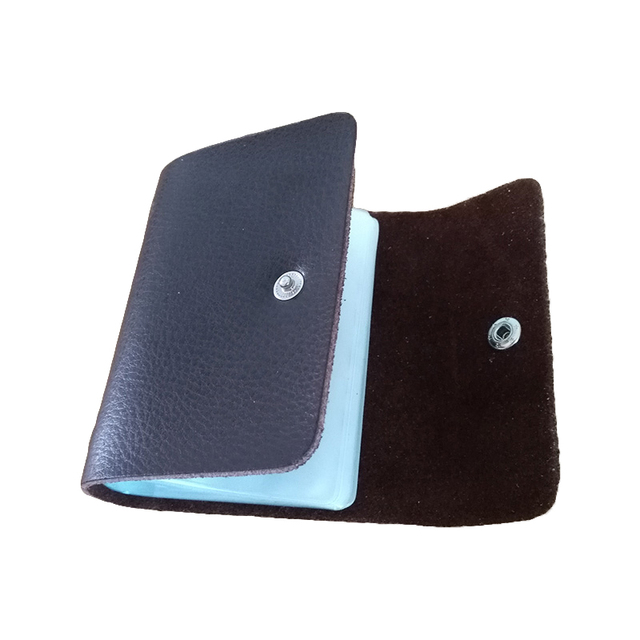 Genuine Leather Card Holder Men's Business Cards Holder Women ID Holders For Cards Hasp Cow Leather Cardholder Card Wallet