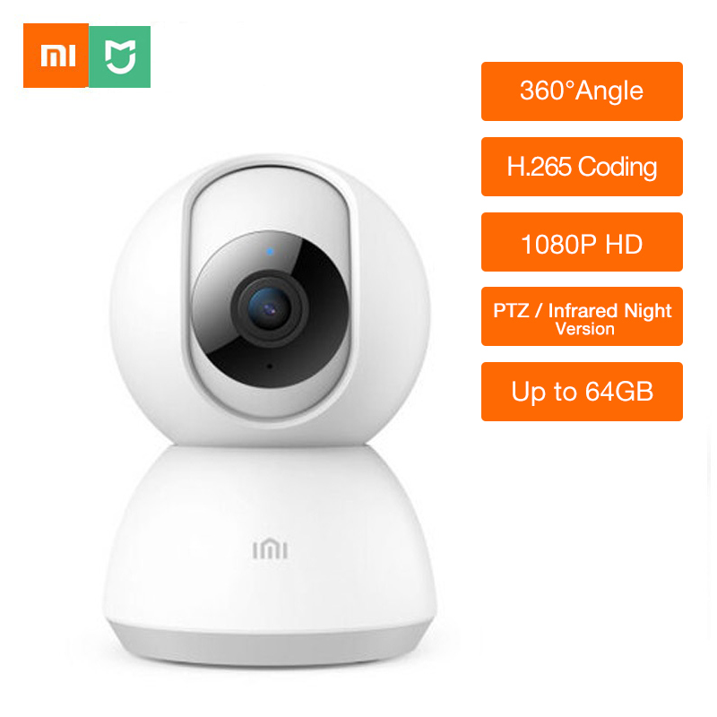 Updated Xiaomi xiaobai Chuangmi Mijia 1080P HD Smart Camera PTZ version Infrared Night Vision Two way Voice baby View webcam-in 360   Video Camera from Consumer Electronics    1