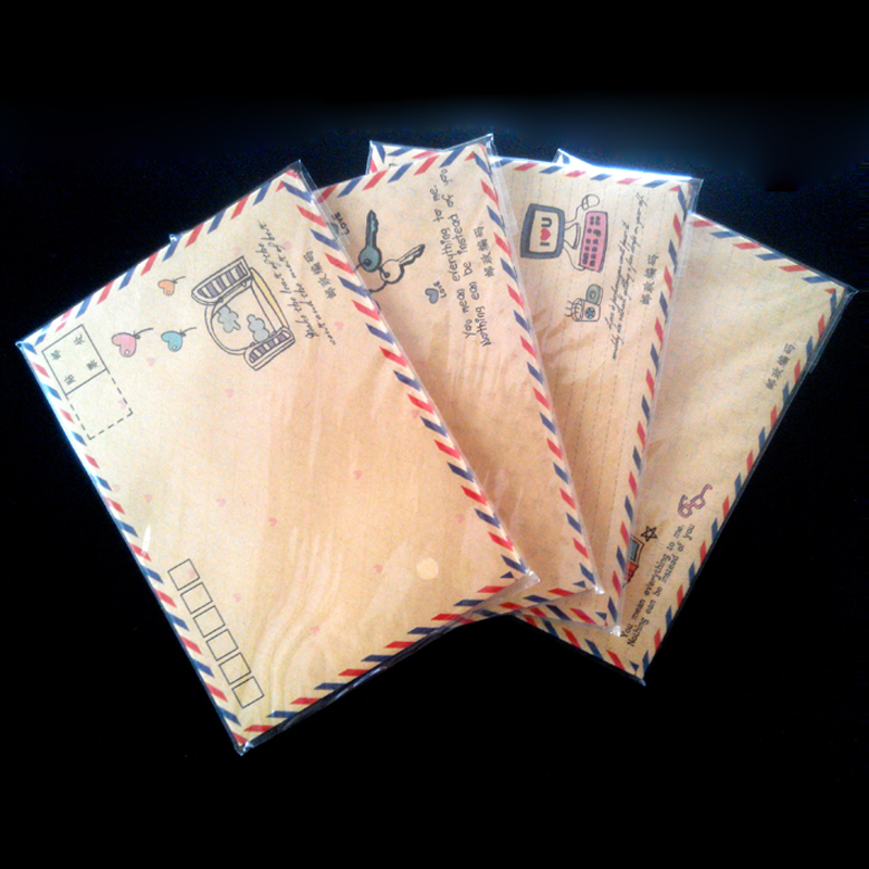 Wholesale 8 Pcs /a Lot Vintage Envelope Air Mail Postcard