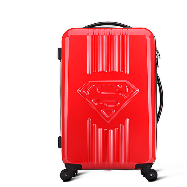 "Superman Luggage Men and Women Fashion Travel Suitcase Trolley Luggage Bag Universal Wheels Luggage 20"" 24"" Rolling Luggage"