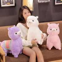 Hot New 1PC 35/50CM Cute Saddle Alpaca Plush Toys Soft Plush Alpacasso Alpaca Dolls Stuffed Animal Toy Children Birthday Gift