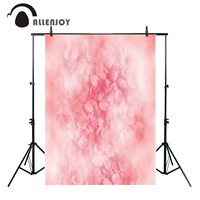 Allenjoy Pastel Pink Flowers Petal Bokeh Photography Background Baby Shower Birthday Party Decoration Backdrop Photo Studio