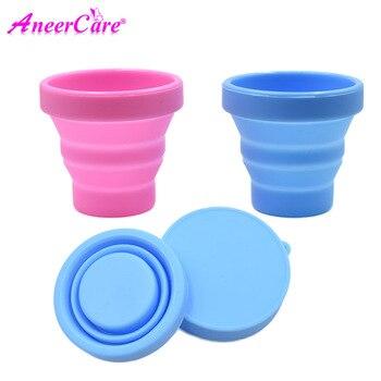 Esterilizador de Copa Menstrual, tazas de silicona plegables, Flexible para limpiar la...