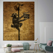 Banksy Monkey Art Wallpaper  Canvas Painting Poster Prints Modern Wall Pictures Artwork For Living Room Home Decor