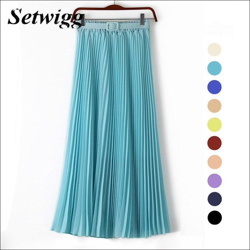 SETWIGG 90 см довгі шифонові плісировані - Жіночий одяг