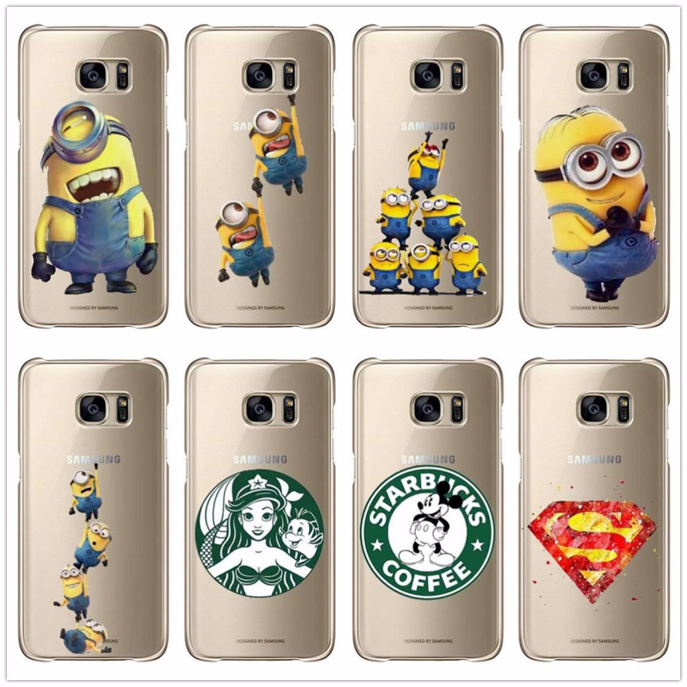 2016 small yellow people case for for samsung galaxy s3 mini s6 edge s7edge note 2 3 4 5 hard pc. Black Bedroom Furniture Sets. Home Design Ideas