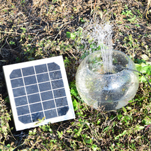 Courtyard solar panel Power Fountain Panels Kit Garden Water Pump for Birdbath Pool Watering Wide Irrigation Pumps 12V 4W