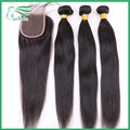 7A Grade Silky Straight Brazilian Virgin Human Hair With Lace Closure