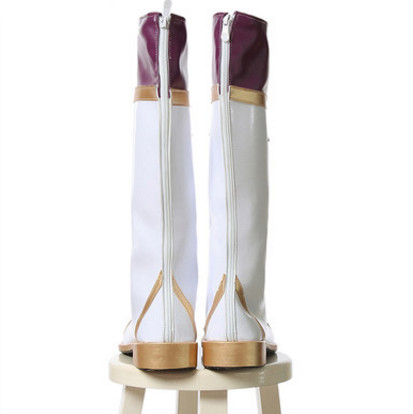 Ezreal cosplay boots purple and white anime high boots anime party shoes for men anime world products