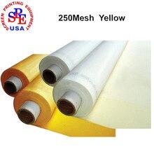 Largura 1.65 metro DPP 250 contagem mesh (100 T) de tecido amarelo, material de impressão da tela, tela de malha de tela quadro de impressão amarelo