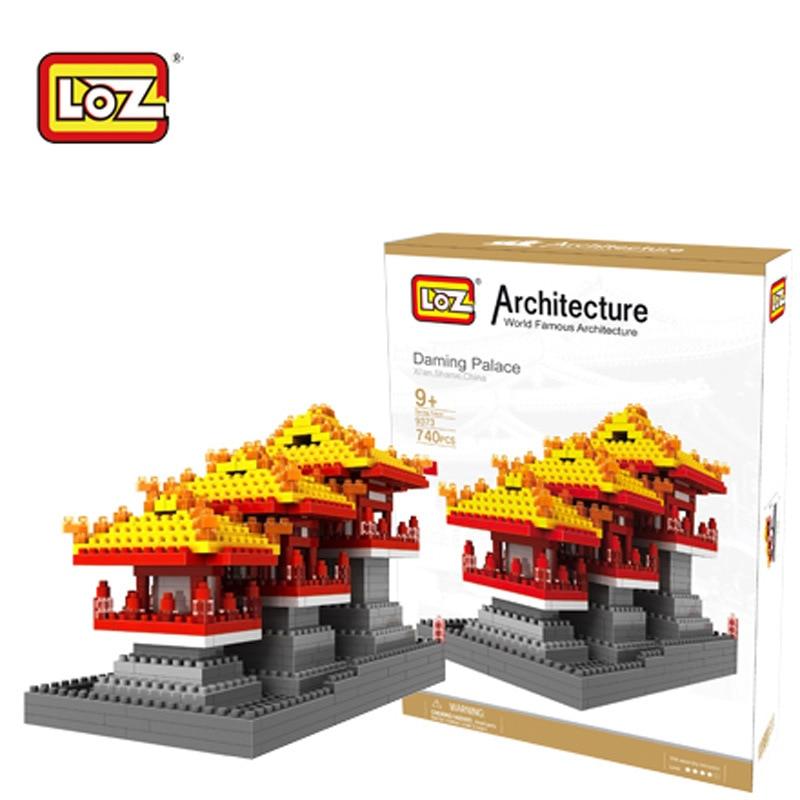 LOZ Diamant Bloc Education des Enfants Antique Celebre Batiments Chine Blocs de Construction de Larchitecture Ladrillos Micro