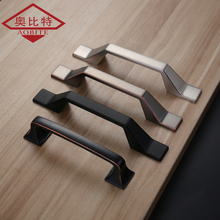 AOBT Solid Zinc Alloy Gray Matte Black Bronze Cabinet Handles for Furniture Drawer Pulls Home Decorative Hardware 6071