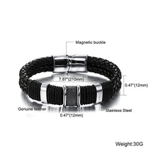 Wide Mens weave Chain  Men Bracelet Wristband For Men Classic Bracelet