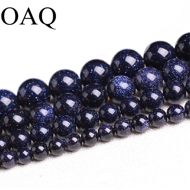 4-12mm Natural perles Galaxy Beads Sitara Stars Wholesale Beads Blue sand Sunstone Loose Beads For Jewelry Making DIY
