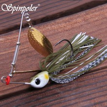 Spinpoler 7g 10g Jig Head Spinner Bait Metal Trout Pike Bass Spinners Spoon Bait Supplies Spinnerbait Iscas Artificiais 2pcs/Lot