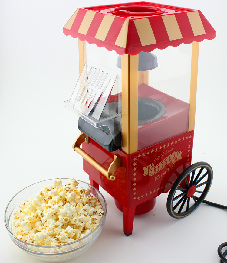 Free Shipping Hot selling Domestic Nostalgia Electric Hot Air Popcorn Maker MINI Home use household popcorn machine high quality commercial home hot selling domestic electric gas hot air popcorn maker popcorn machine