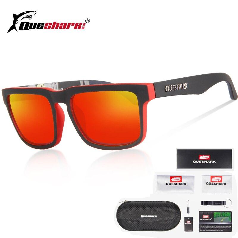 dde33b9eef2f2 Queshark Uv400 TR90 Polarized Ciclismo óculos de Sol Bicicleta Esportes  Óculos De Pesca Caminhadas Camping Pesca Óculos De Sol Eyewear