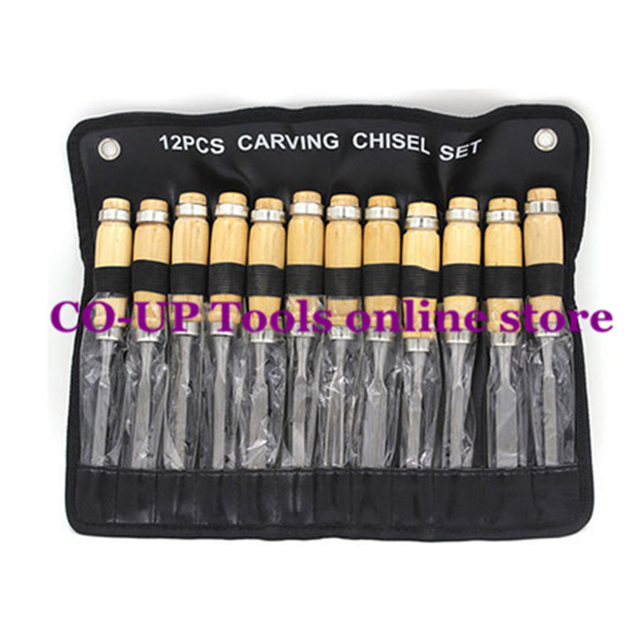 Hot 12pcs/set Professional Wood Carving Chisel Gouge Set Hand Chisel Carpenter Tools  цены