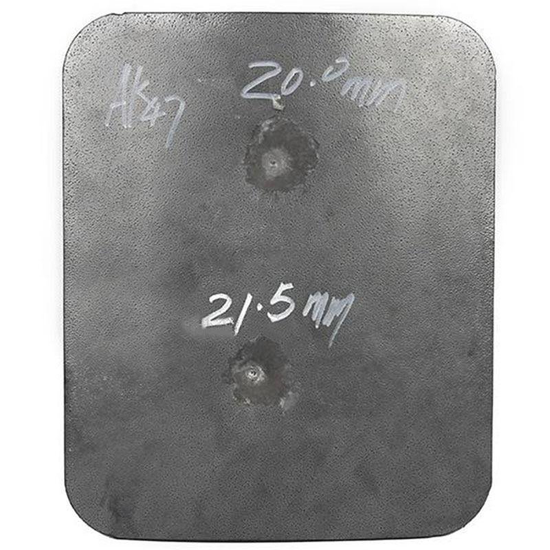 CCGK Bulletproof Plate Steel Protection AK-47 4mm M-16 6mm Ballistic Panel DHL Tactical Vest 30*25mm 12*10'' Practical Testing