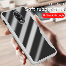TPU Soft Bumper Case On The For Oneplus 6 6T Shockproof Cover 1+6 Silicone Glass Phone