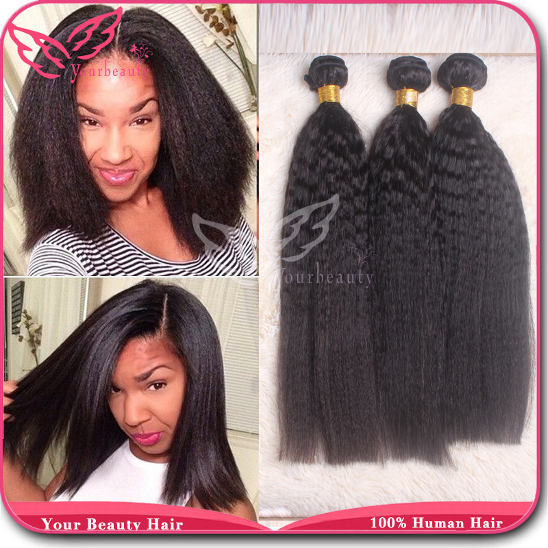 8a Brazilian Kinky Straight Hair Weaves 100 Virgin Human Hair