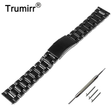 22mm Stainless Steel Watch Band Quick Release Strap for Samsung Gear 2 R380 Neo R381 Live R382 Moto 360 2 Gen 46mm Pebble Time