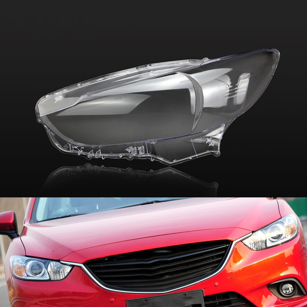For Mazda 6 Atenza 2014 2015 2016 2017 Transparent Car Headlight Headlamp Clear Lens Auto Shell